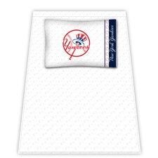 MLB New York Yankees Microfiber Top Hat Sheet Set