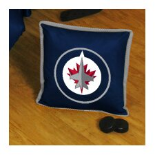 NHL Winnipeg Jets Sidelines Throw Pillow