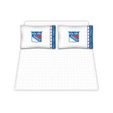 NHL New York Rangers Microfiber Sheet Set