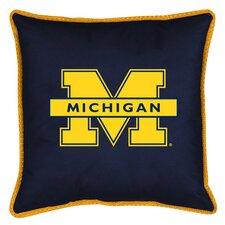 NCAA Michigan Sidelines Throw Pillow