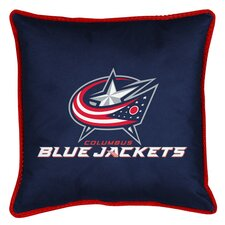 NHL Columbus Blue Jackets Sidelines Throw Pillow