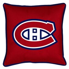 NHL Montreal Canadiens Sidelines Throw Pillow