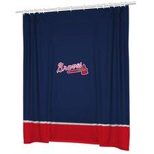 MLB Atlanta Braves Sidelines Shower Curtain