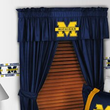 "NCAA 88"" Michigan Wolverines Curtain Valance"