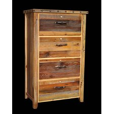 Barnwood 4 Drawer Lateral File Cabinet