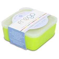 Frego 2 Cup Glass and Silicone toxin-free Food Storage Container