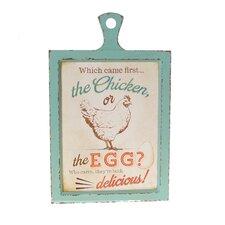 'Egg' Wood Sign Wall Decor