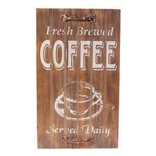 Wood Sign 'Coffee' Wall Decor