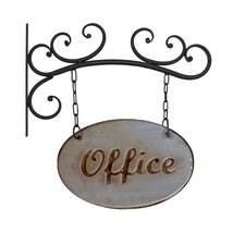 Metal Office Sign Wall Decor