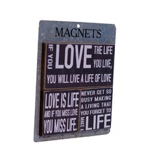 3 Piece Wood Magnets 'Love' Wall Decor Set