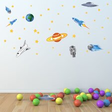 Colorful Space Wall Decal Set