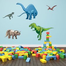 Colorful Dino Wall Decal Set