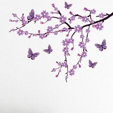 Lilac Blossom Branch Wall Decal