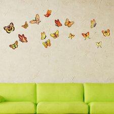 Orange Butterfly Wall Decal
