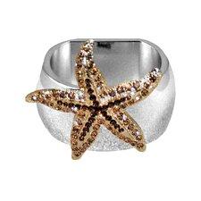 Gold Starfish Napkin Ring (Set of 4)