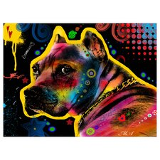 Brown Pit bull Brown Eyes Look 1 by Mark Ashkenazi Graphic Art