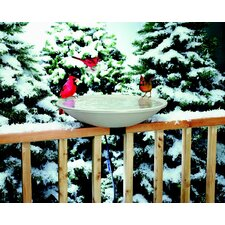 Deck Mount Heated Bird Bath