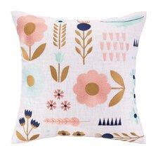 Elizabeth Olwen Garden Charm Embroidered Throw Pillow