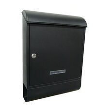 Locked Wall Mounted Mailbox with Newspaper Holder