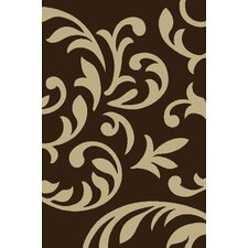 Modern Swirl Brown Area Rug