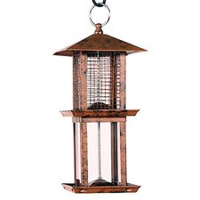 Double Tower Seed Caged Bird Feeder