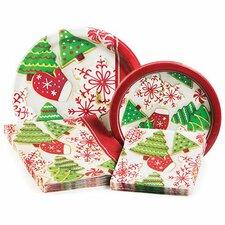Holiday Treats Party 4 Piece Dinnerware Set
