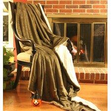 Evergreen Sherpa Throw Blanket