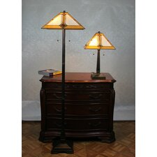 Serena d'italia 2 Piece Floor Lamp and Table Lamp Set with Empire Shade