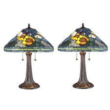 """Serena d'italia 23"""" H Table Lamp with Bowl Shade (Set of 2)"""