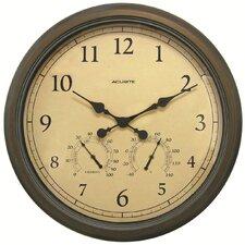 "AcuRite Oversized 24"" Outdoor Clock Combo"