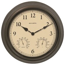 "AcuRite 15"" Outdoor Clock Combo"