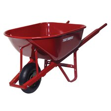 6 Cubic Foot Steel Homeowner Wheelbarrow