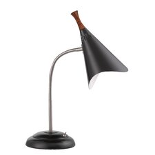 "Draper Gooseneck 18.5"" H Table Lamp with Novelty Shade"