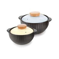 Mystique 4 Piece Covered Ceramic Stovetop Cookware Set