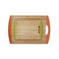 Lusso 2 Piece Bamboo Cutting Board with Non Slip Edges