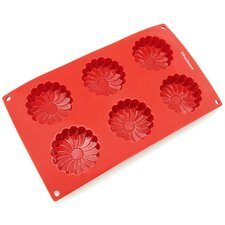 6 Cavity Daisy Flower Silicone Mold Pan