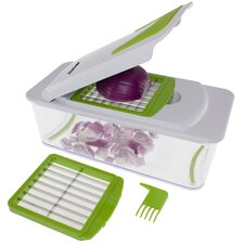 7-in-1 Vegetable, Fruit and Cheese Chopper with Mandoline Slicer
