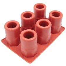6 Cavity Beveled Ice Shot Glass Silicone Mold Pan