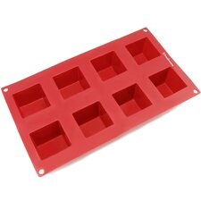8 Cavity Square Silicone Mold Pan