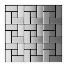 "Speedtiles 11.22"" x 11.22"" Stainless Steel Peel & Stick Tile"