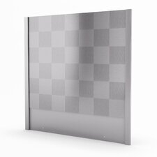 "Cube Real 29.94"" x 30"" Metal Tile in Stainless Steel"