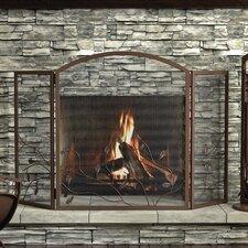 3 Panel Oak Leaf Fireplace Screen