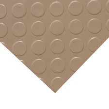 """Metallic """"Coin-Grip"""" Beige 4ft x 25ft Flooring Mat"""
