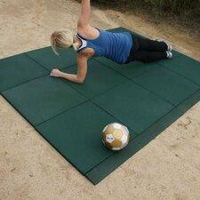 """Eco-Sport"" Interlocking Flooring Rubber Tile (Set of 18)"