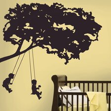 Kids On A Swing Wall Decal