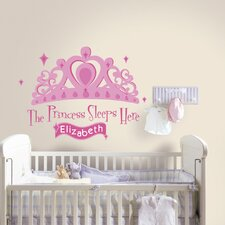 Princess Sleeps Here Wall Decal