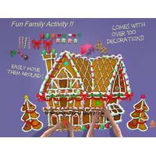 Decorate Me! Gingerbread House Wall Decal