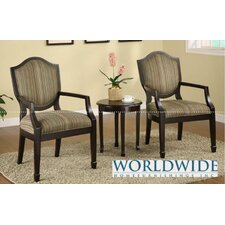 3 Pieces Accent Chair And Table Set