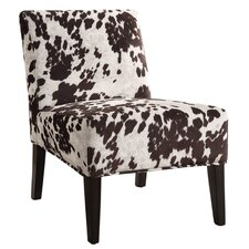 Angus Faux Cowhide Accent Chair