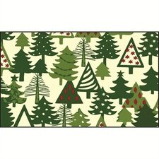 Whimisical Christmas Trees Doormat